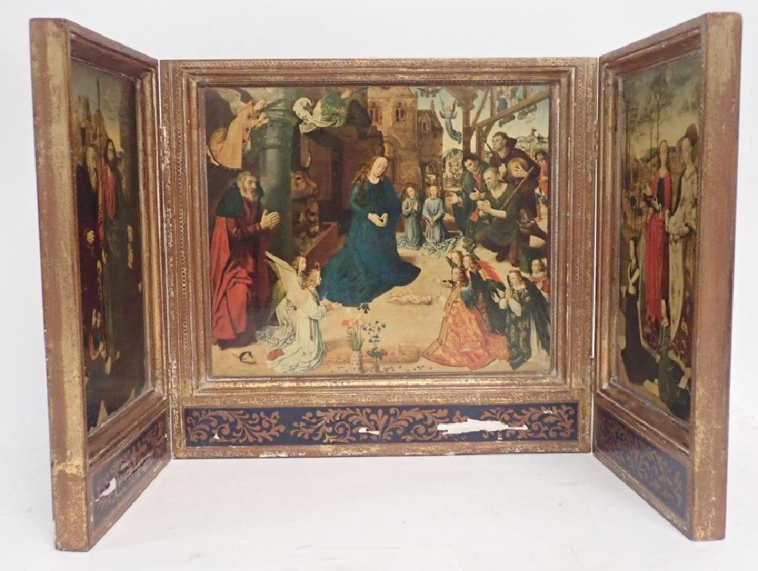 Vintage Religious Triptych of Nativity - 2
