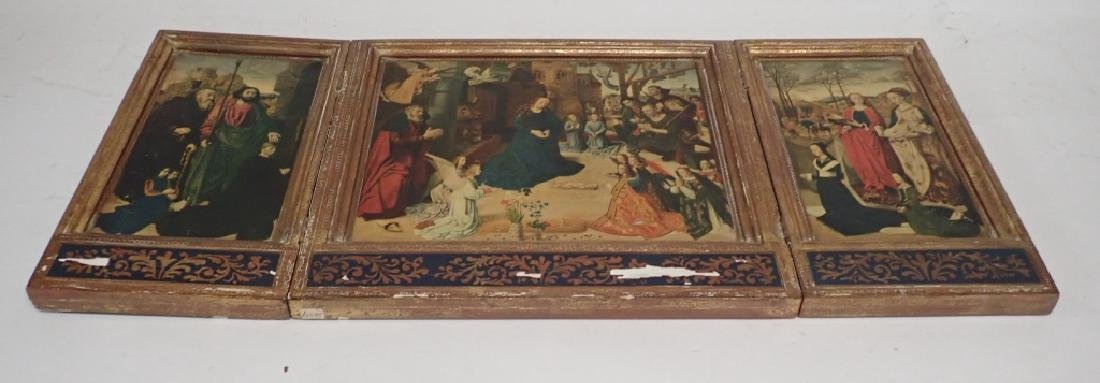 Vintage Religious Triptych of Nativity - 6