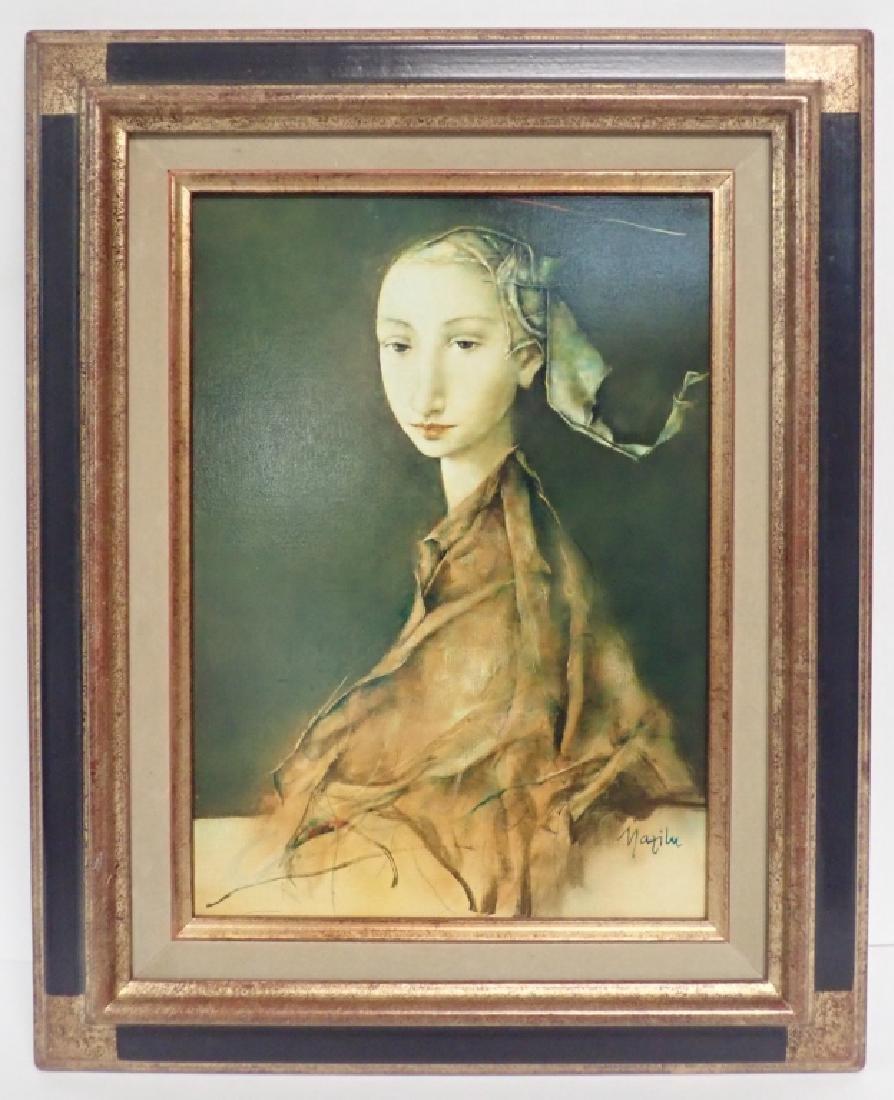 """Georges Mazilu """"Portrait de Femme"""" 1992"""