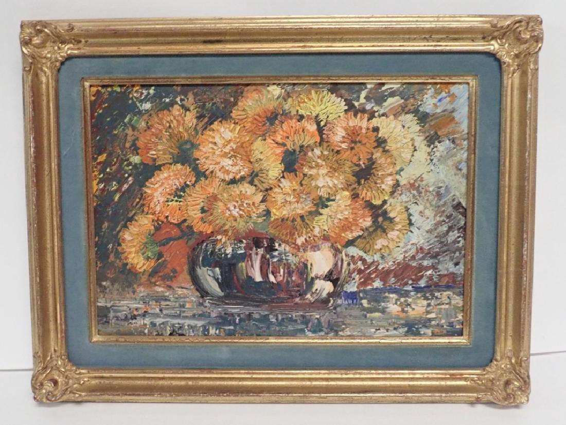 Gilt Framed Still Life Oil Painting on Board