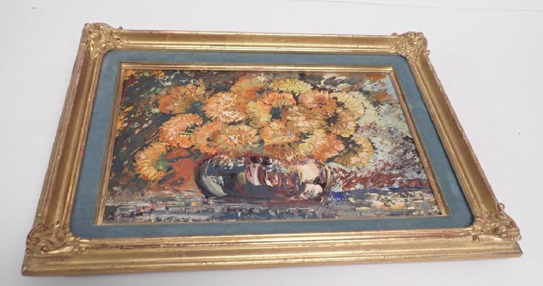 Gilt Framed Still Life Oil Painting on Board - 5