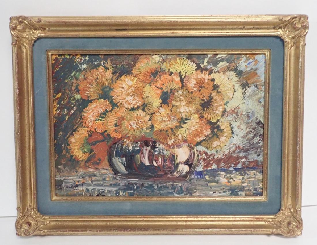 Gilt Framed Still Life Oil Painting on Board - 8