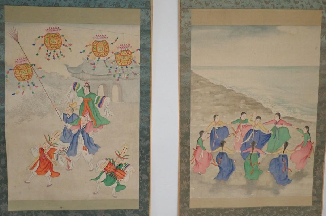 Two Asian Scroll Paintings - 10