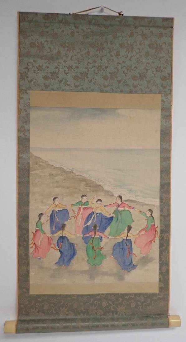 Two Asian Scroll Paintings - 2