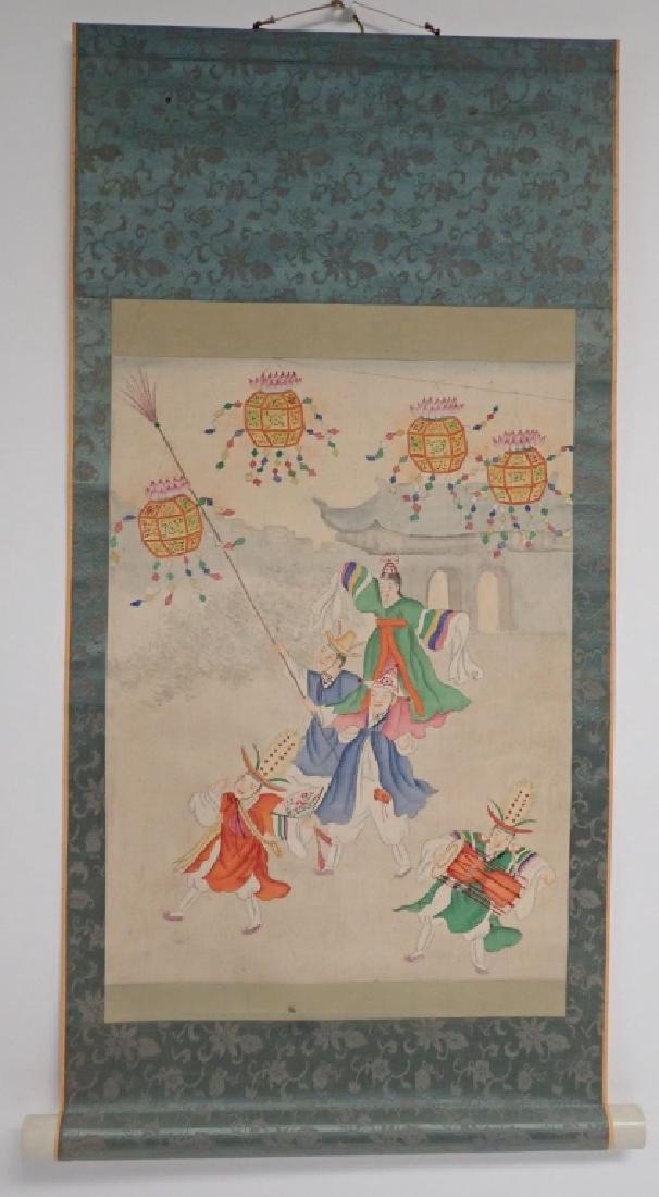 Two Asian Scroll Paintings - 5