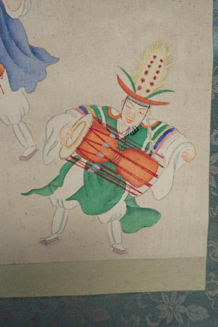 Two Asian Scroll Paintings - 7