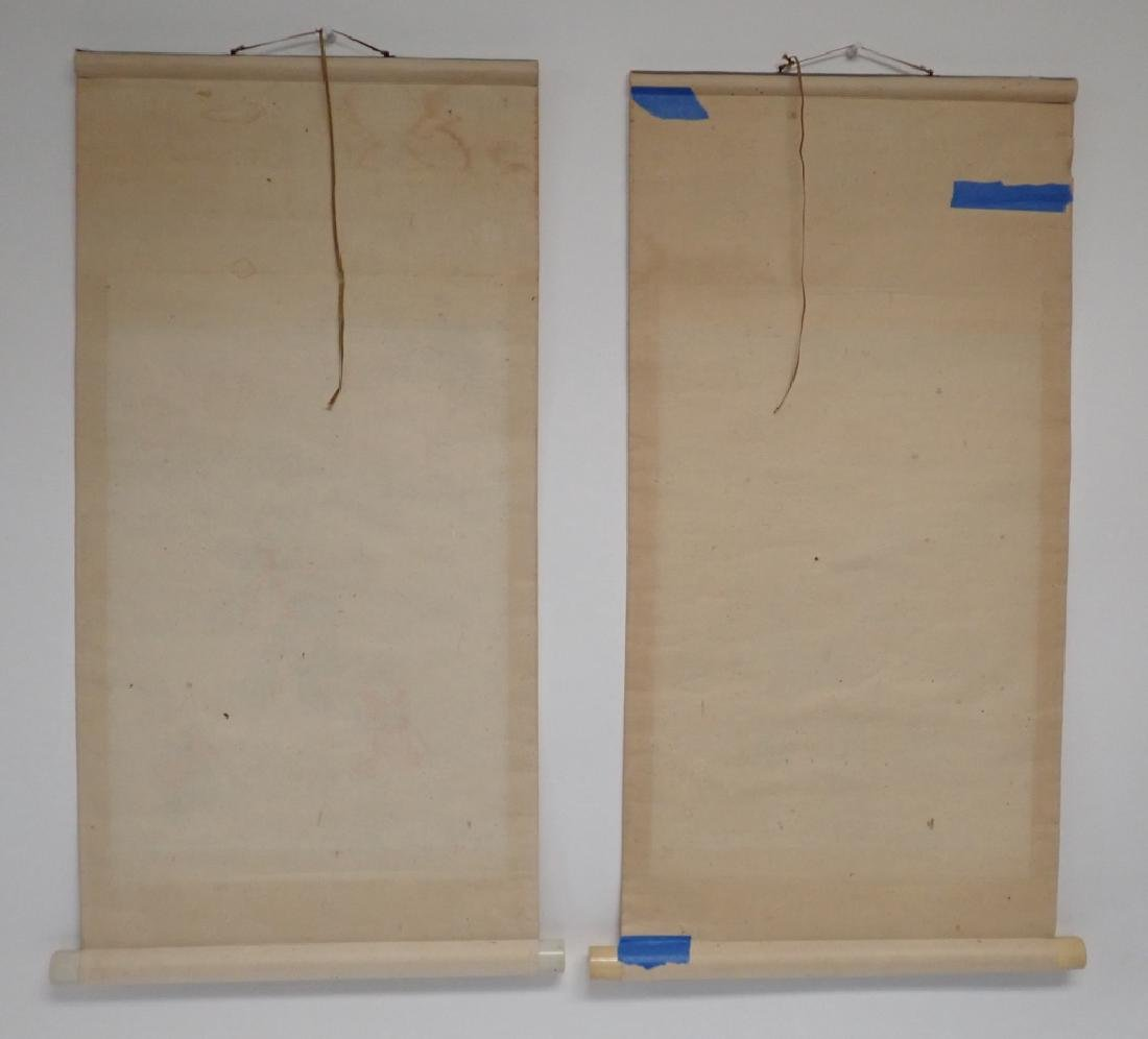 Two Asian Scroll Paintings - 8
