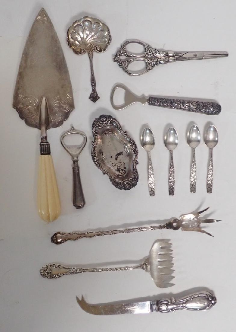 Assortment of Victorian Sterling Serving Pieces