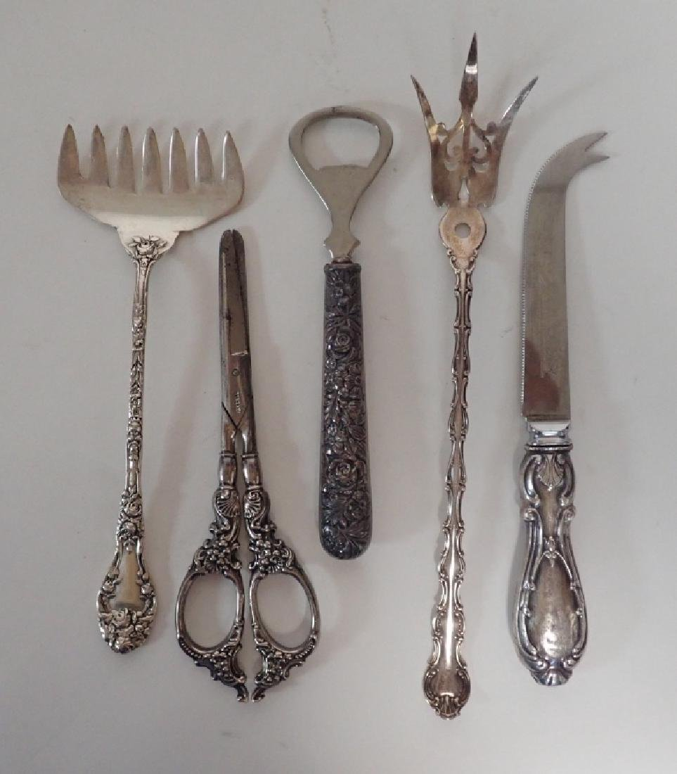Assortment of Victorian Sterling Serving Pieces - 4