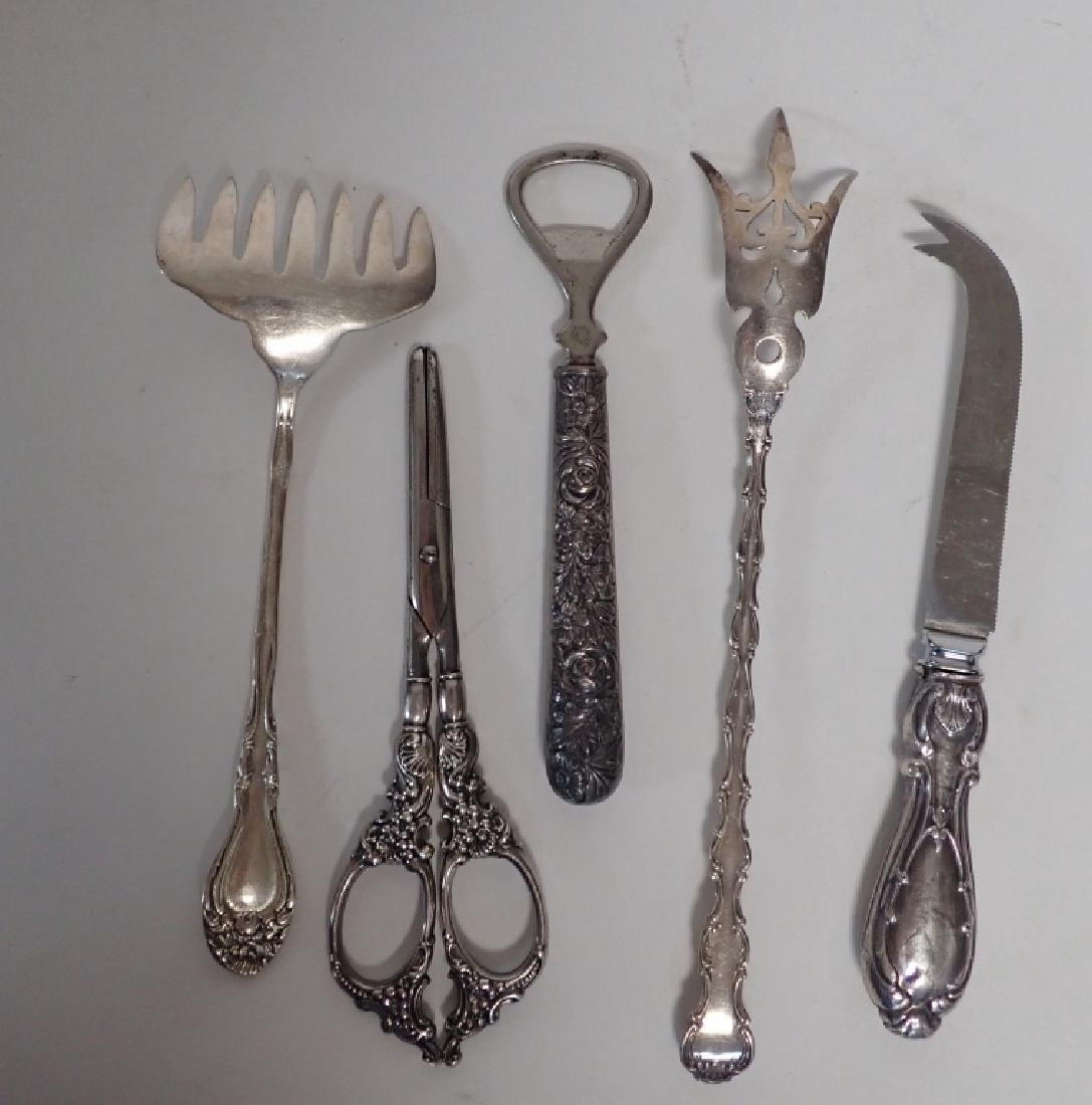 Assortment of Victorian Sterling Serving Pieces - 5