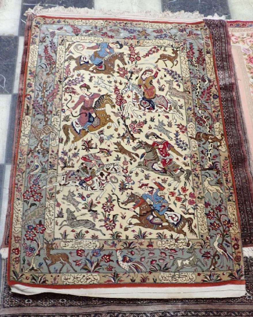 Vintage Pictorial Persian Carpet - 2
