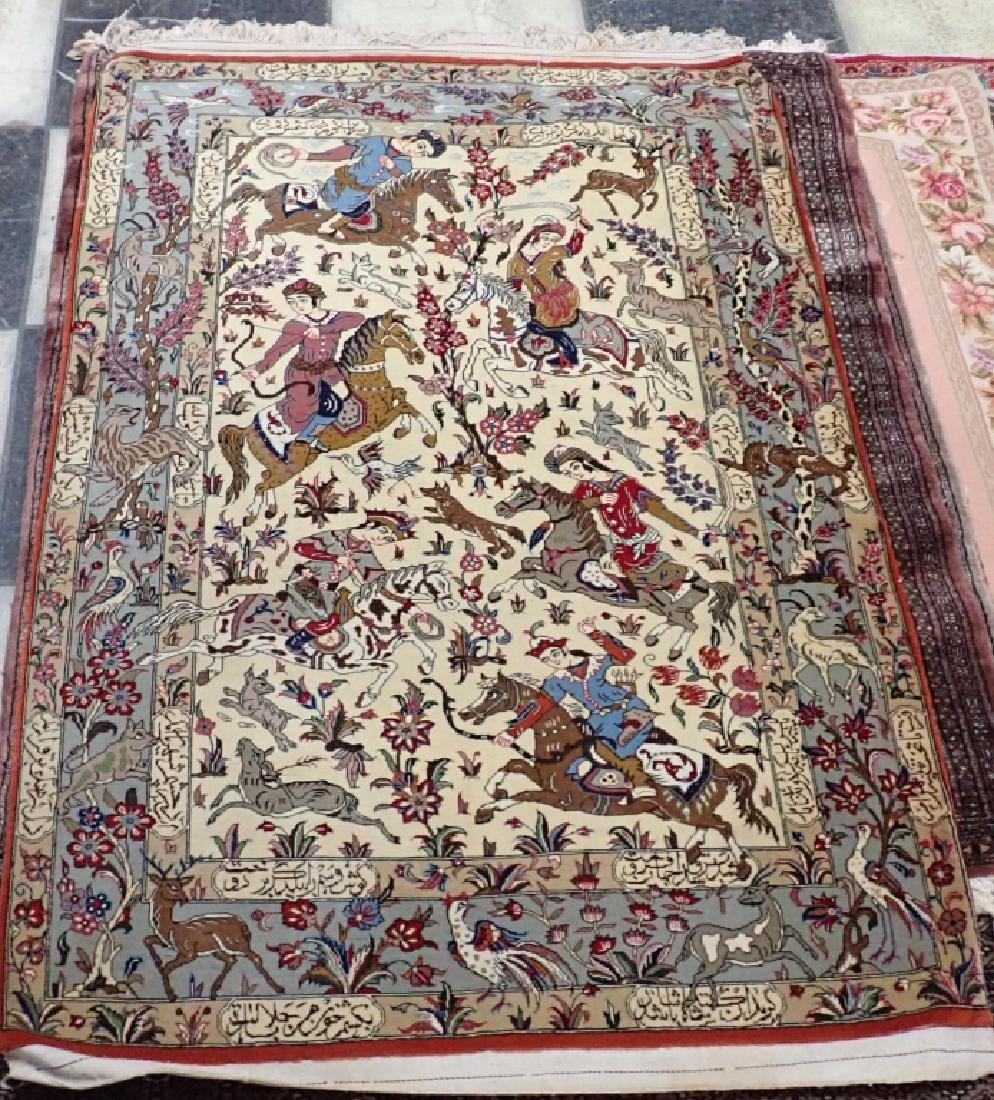 Vintage Pictorial Persian Carpet - 4