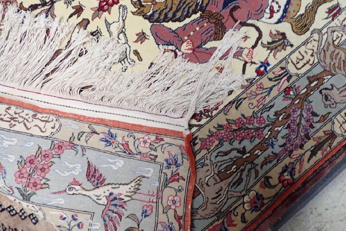 Vintage Pictorial Persian Carpet - 5