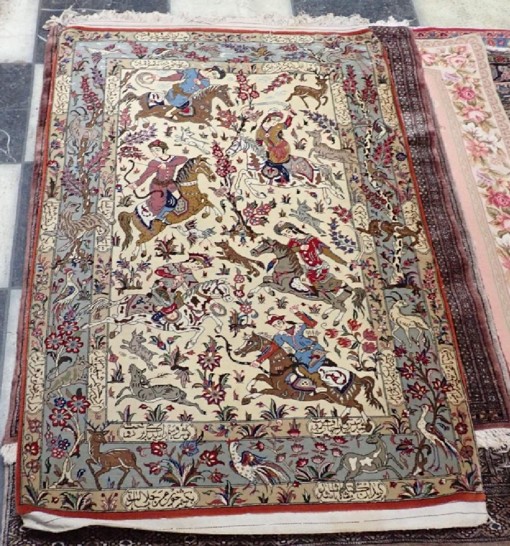 Vintage Pictorial Persian Carpet - 7