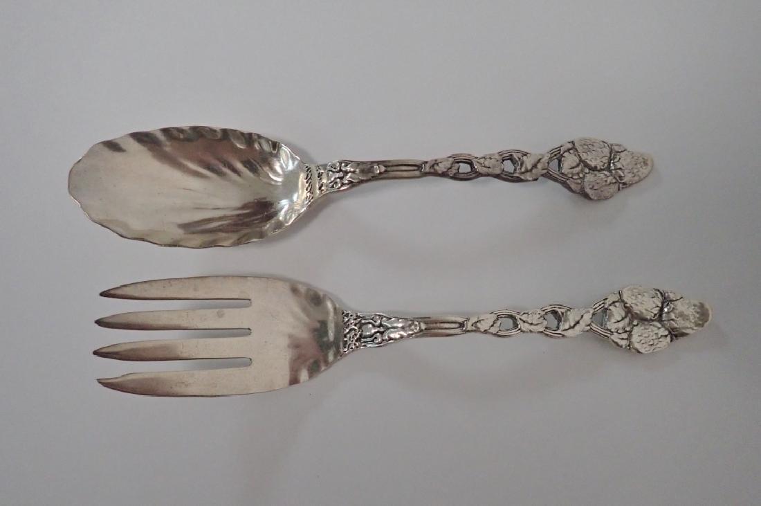 Sterling Strawberry Vine Serving Fork & Spoon Set - 2