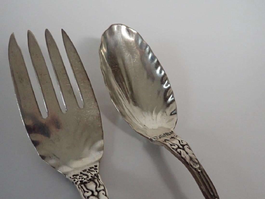 Sterling Strawberry Vine Serving Fork & Spoon Set - 7