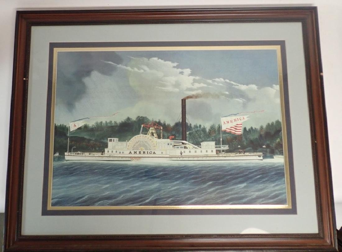 """America"" Vintage Riverboat Print"
