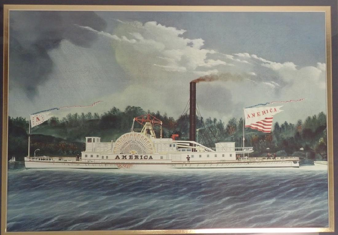 """America"" Vintage Riverboat Print - 2"