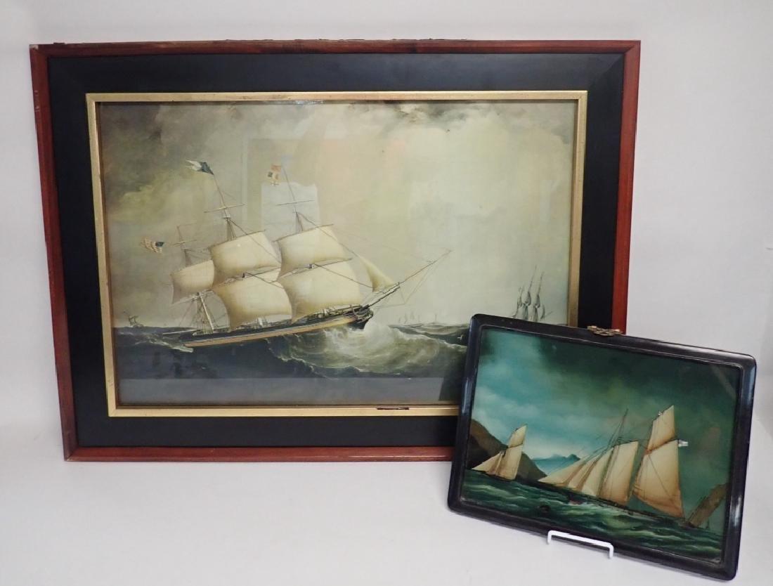 Framed Nautical Art Pairing