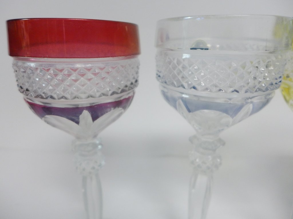 Colored Cut Crystal Bar Ware - 9