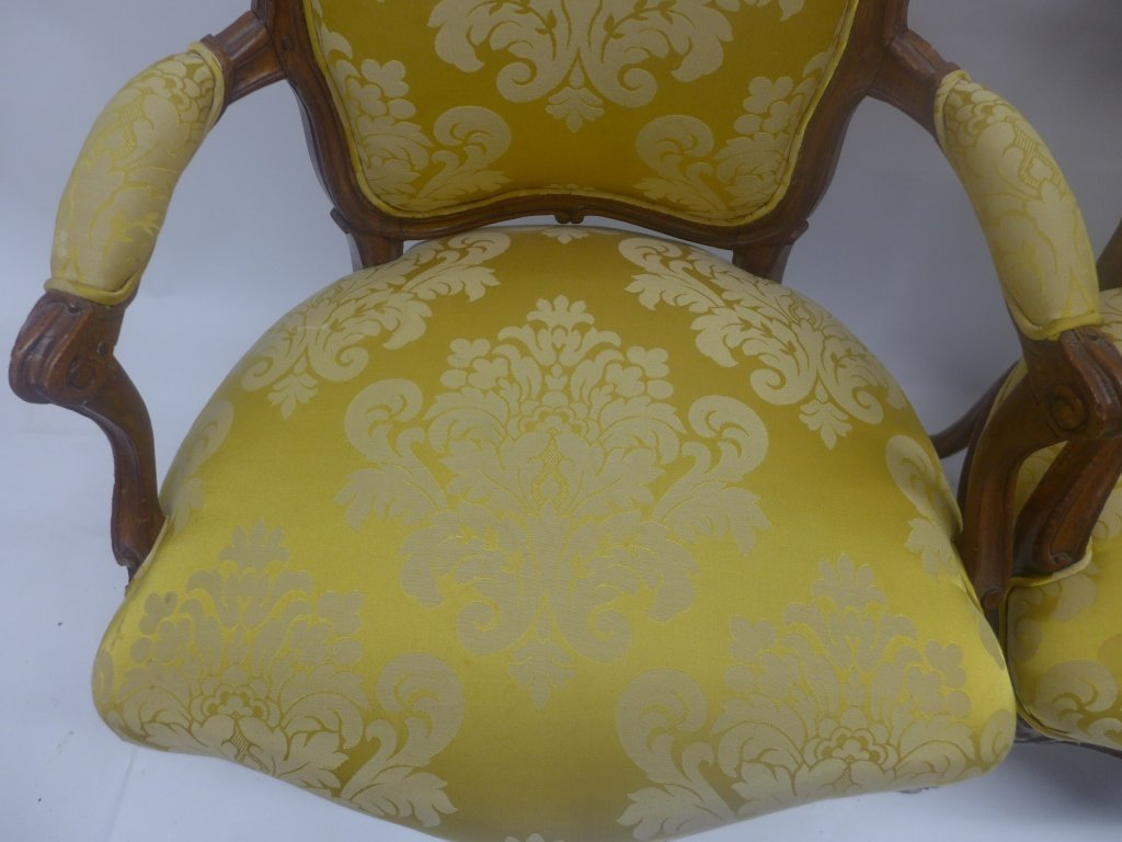 Stunning Pair Louis XV Style Arm Chairs - 2