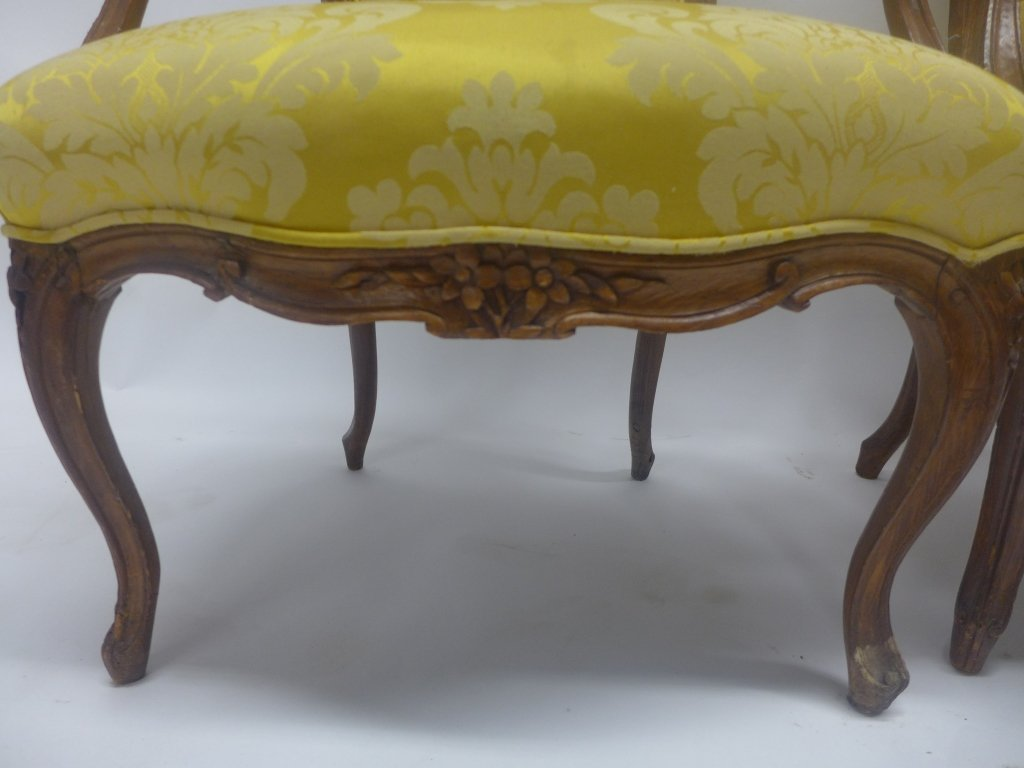Stunning Pair Louis XV Style Arm Chairs - 3