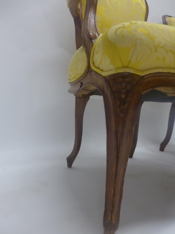 Stunning Pair Louis XV Style Arm Chairs - 4