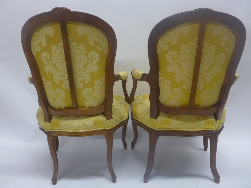 Stunning Pair Louis XV Style Arm Chairs - 6