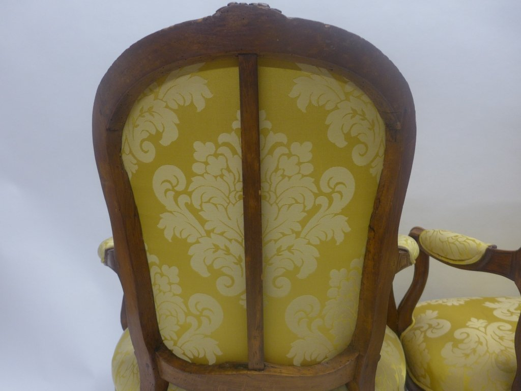 Stunning Pair Louis XV Style Arm Chairs - 7
