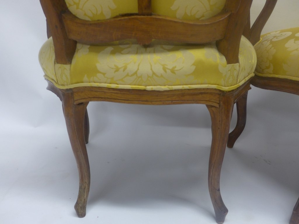 Stunning Pair Louis XV Style Arm Chairs - 8