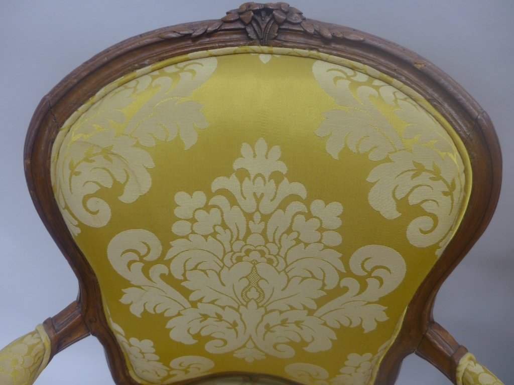 Stunning Pair Louis XV Style Arm Chairs - 9