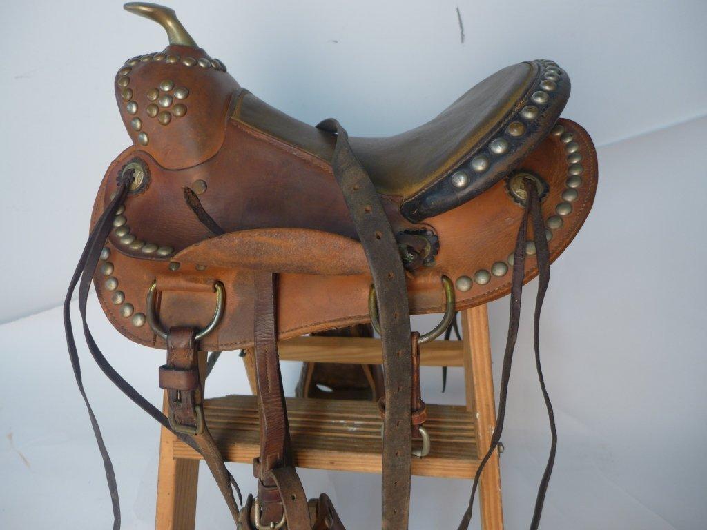 Vintage Horse Saddle w/ Stirrups