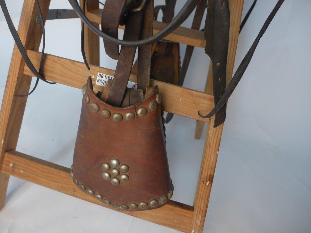 Vintage Horse Saddle w/ Stirrups - 3