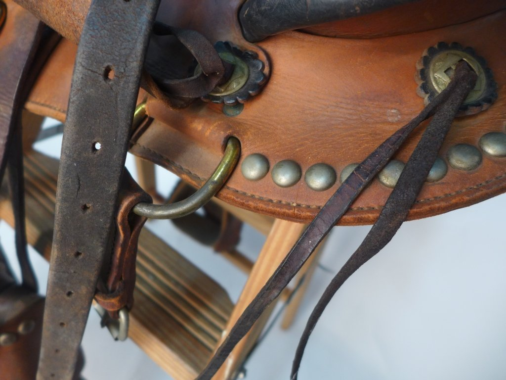 Vintage Horse Saddle w/ Stirrups - 5