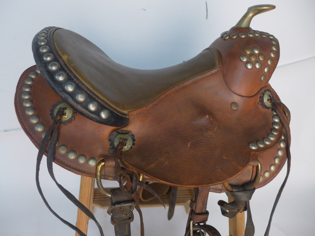 Vintage Horse Saddle w/ Stirrups - 6