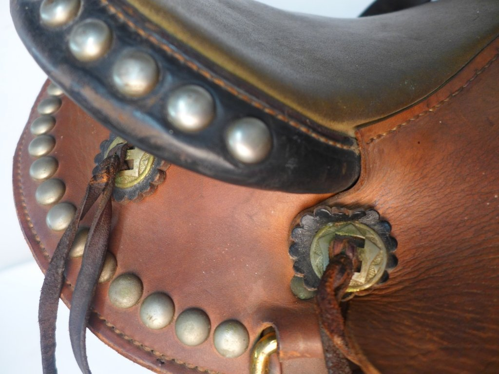 Vintage Horse Saddle w/ Stirrups - 9