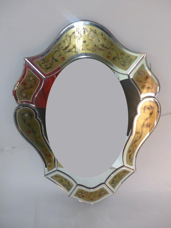 Hand Painted Venetian Glass Mirror
