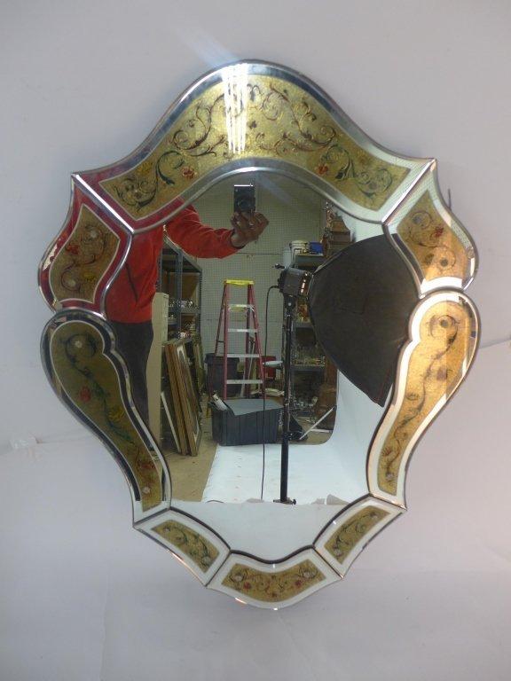 Hand Painted Venetian Glass Mirror - 2