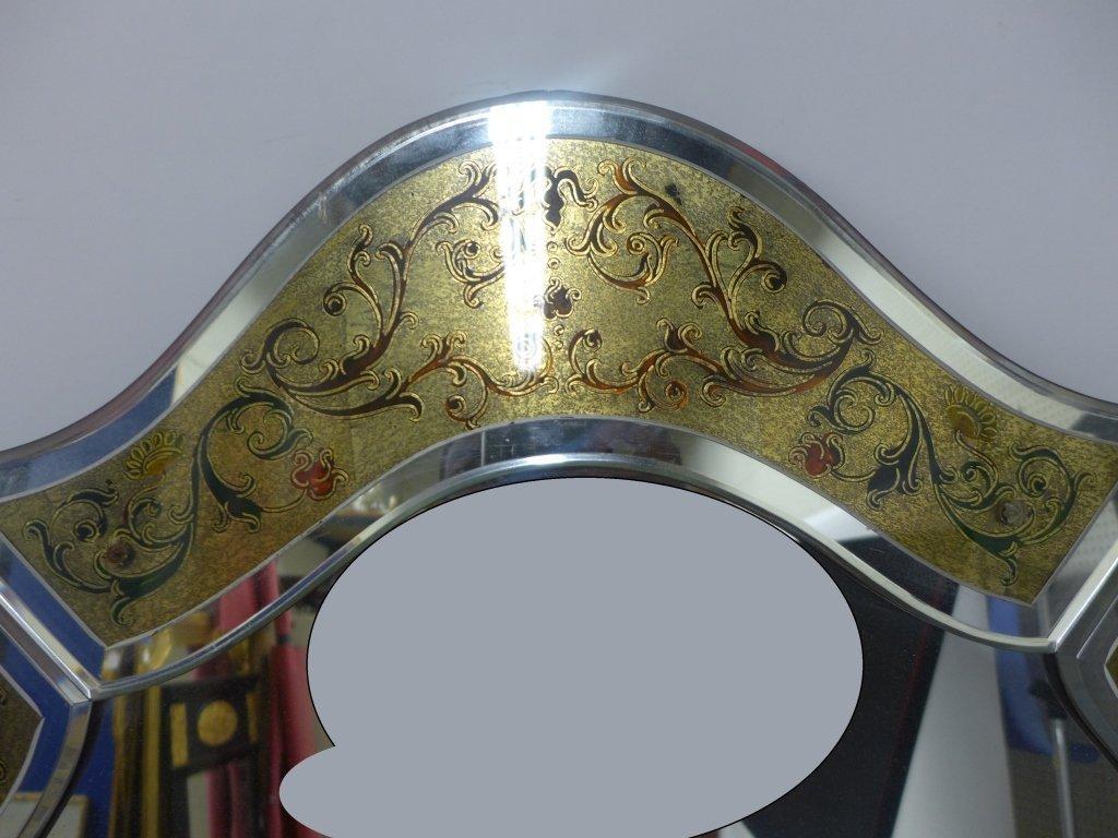 Hand Painted Venetian Glass Mirror - 4