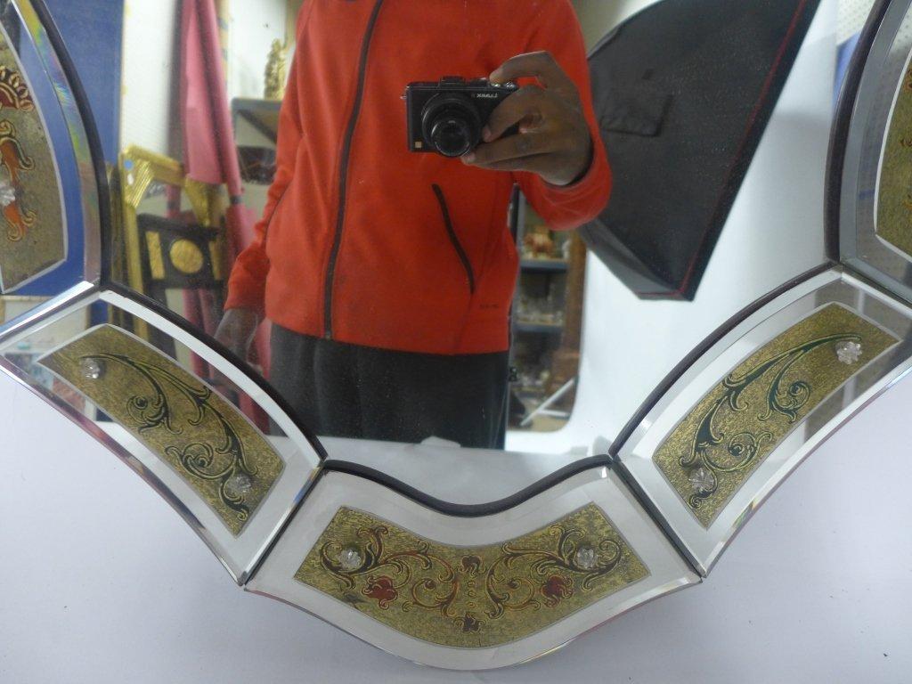 Hand Painted Venetian Glass Mirror - 5
