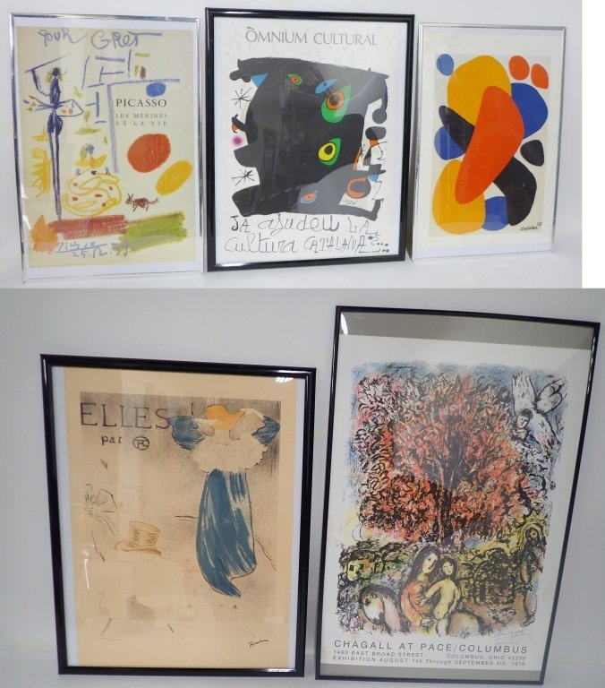 Collection of Five Modern Art Prints