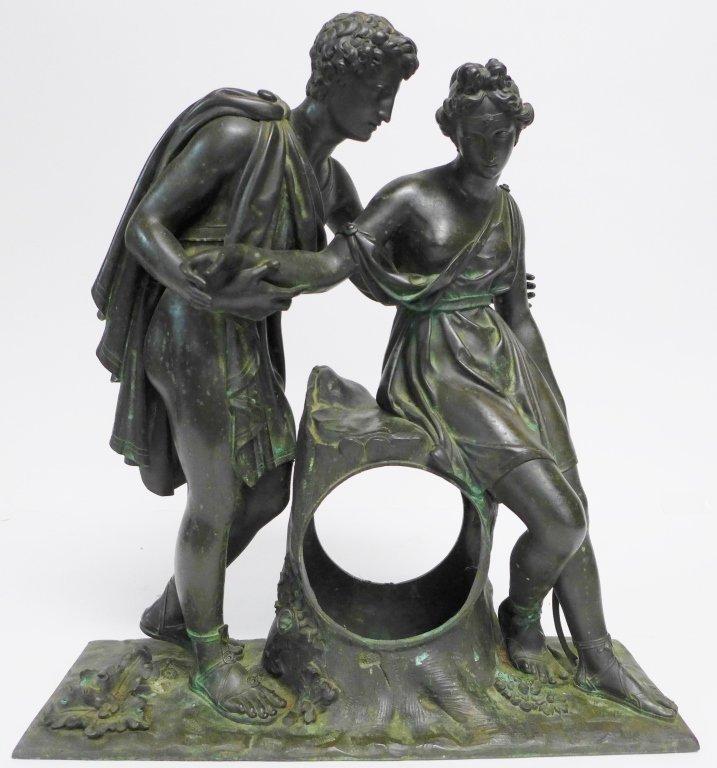 19th Century Bronze Figural Mantle Clock Case