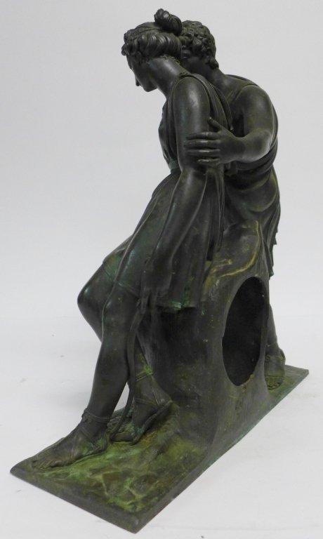 19th Century Bronze Figural Mantle Clock Case - 3