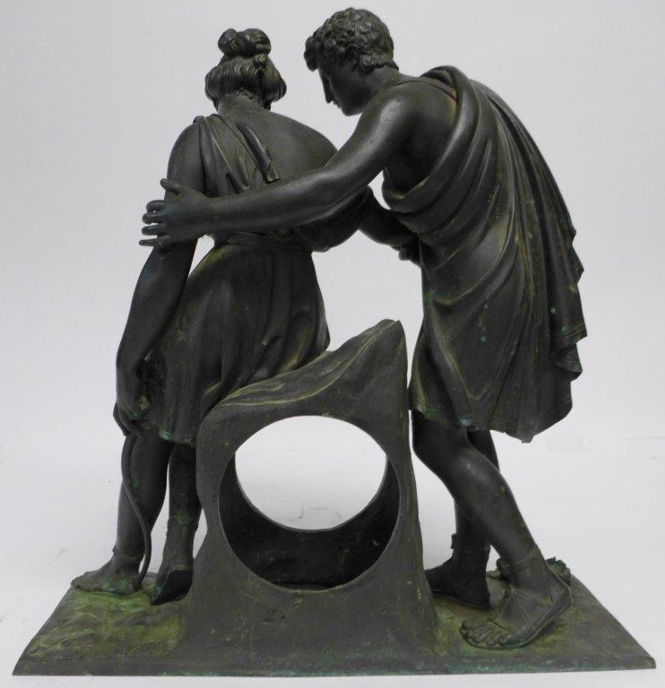 19th Century Bronze Figural Mantle Clock Case - 4