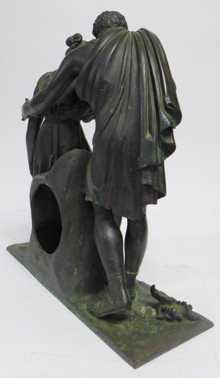 19th Century Bronze Figural Mantle Clock Case - 5