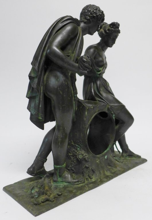 19th Century Bronze Figural Mantle Clock Case - 7