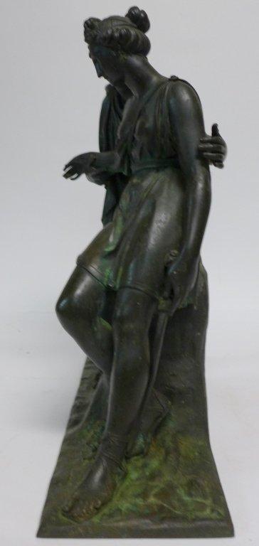 19th Century Bronze Figural Mantle Clock Case - 8