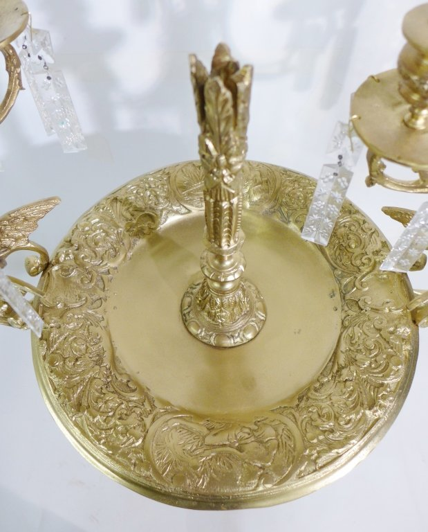 20th Century Bronze and Crystal Epergne - 10