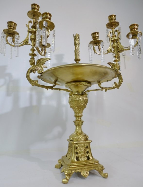 20th Century Bronze and Crystal Epergne - 2