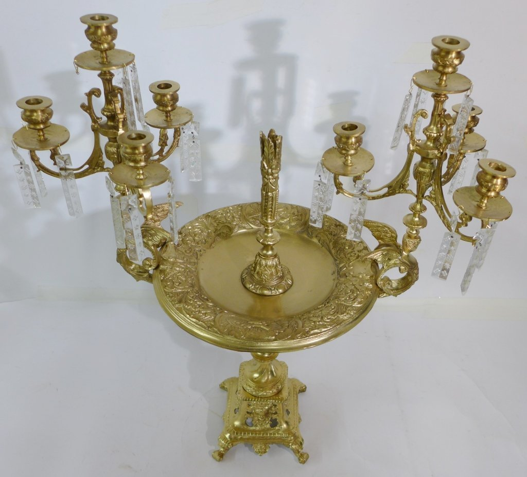 20th Century Bronze and Crystal Epergne - 3